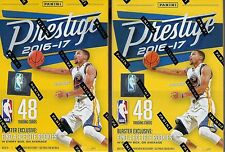 (2) 2016-17 Panini PRESTIGE Basketball NBA Trading Cards 48ct. Blaster Box LOT