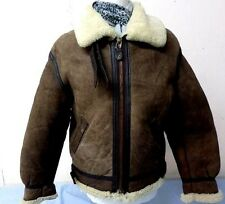"Homme avirex us army B3 aviator flying jacket small 38"" marron grade a T822"