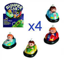 4 X Children Classic Wind Up Toy Bumper Car with Anti Fall Function - 60/0081