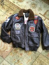 AVIREX BOYS GI FLIGHT JACKET BOMBER TOP GUN PILOT FLYER SIZE 10