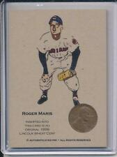 Authenticated Ink Roger Maris 1958 Cleveland Indians Penny Card