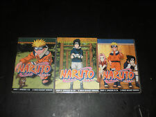 NARUTO PART 1, 2, 3 EPISODES 1-76 LOT OF 9 DVDS