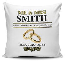 Personalizado señor y la Sra. día de bodas cubierta Cojín - 40cm X 40cm-Nuevo
