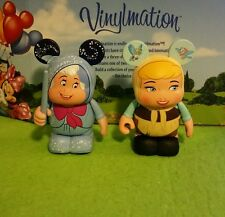 "DISNEY Parks Vinylmation 3"" Park Set 1 Cinderella Lot in Rags & Fairy Godmother"