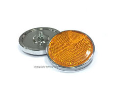 Pair Suzuki GT380 GT550 GT750 1972-1977 Turn Signal Reflector AMBER color