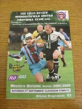01/09/2001 Mangotsfield United v Clevedon Town [FA Cup] . Thanks for viewing our