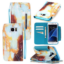 For Samsung Galaxy S7 Edge Hybrid Phone Case PU Leather Wallet Pouch Flip Cover