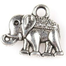 250pcs 145160 Wholesale New Elephant Animal Vintage Silver Alloy Charms Pendants