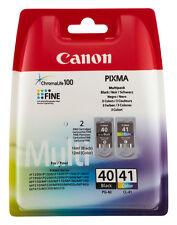 ORIGINAL CANON PG40+CL41 TINTE PATRONEN PIXMA IP1200 IP1300 IP1600 IP1700 IP1800