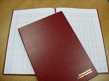 A4 HARD BACK 7 CASH COLUMNS ANALYSIS / ACCOUNT BOOK - 96 PAGES BRAND NEW