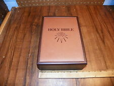 Leather Covered HOLY BIBLE Case w 1991 NEW AMERICAN BIBLE