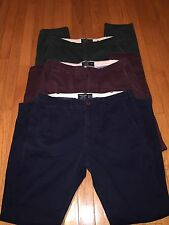 Lot of 3 Men's Abercrombie And Fitch Skinny Chino Pants 33 X 32