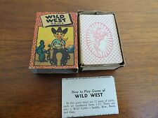VINTAGE Wild West Card Game 1950's Complete Russell Co. Small Card Deck