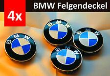 4 x 68mm BMW blue white Badge Emblem Set Wheel Centre Caps e60 e61 e46 e90 e92