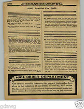 1929 PAPER AD South Bend Split Bamboo Green Fly Fishing Rod Rods