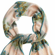 Missoni for Target Women's Scarf  Blue Green Wave New SOLD OUT NWT