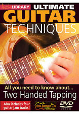 Lick Library ULTIMATE GUITAR TECHNIQUES TWO HANDED TAPPING Video Lessons DVD