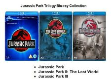 JURASSIC PARK TRILOGY BLU RAY COLLECTION PART 1 2 3 ALL MOVIE FILM New Sealed