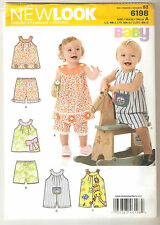 New Look Sewing Pattern 6198 Babies Top Shorts and Romper Sz NB-L