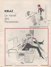 ▬► Dessin Humoristique KIRAZ Le travail des Parisiennes 2 pages 1974
