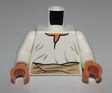 LeGo Indiana Jones White Minifig Torso Loose Shirt Tan Belt Pattern Flesh Hands