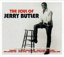 THE SOUL OF JERRY BUTLER - 38 ORIGINAL SOUL CLASSICS (NEW SEALED 2CD)