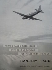 11/1945 PUB HANDLEY PAGE HERMES FREIGHTER AIRLINER AIRLINES ROY NOCKHOLDS AD
