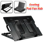 "AU Stock 9""-17"" Laptop Cooling Pad Fan Table Stand Fits Notebook Cooler USB Hub"