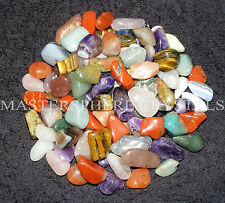 100 x Mixed Tumblestones Crystal 10mm-28mm SECONDS Bulk Wholesale