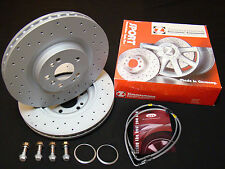 Audi TT Mk2 Zimmermann Discs Mounting Bolts Brake Lines for 6pot Brembo Calipers