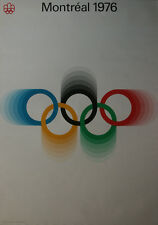 Montreal 1976 Olympic LARGE Vintage Poster OLYMPIC RINGS Original Official RARE