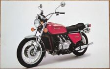 Honda Motorcycle 1975 Chrome Advertising Postcard, Gold Wing GL-1000