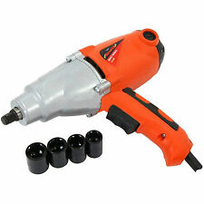 """Heavy Duty 1010W Electric Impact Wrench 240V 1/2"""" Dr In Case + 17-22mm Sockets"""