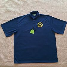 DELTA EPSILON IOTA POLO SHIRT PORT AUTHORITY BLUE BAMBOO MEN 2XL