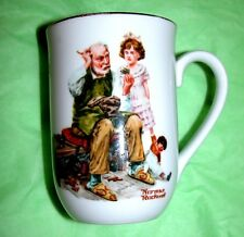 Vintage Norman Rockwell Museum The Cobbler Coffee Mug Cup Excellent.