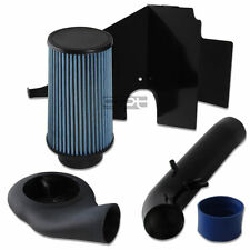 FOR 93-98 GRAND CHEROKEE ZJ 5.2/5.9 COLD AIR INTAKE BLACK PIPE/TUBE+HEAT SHIELD