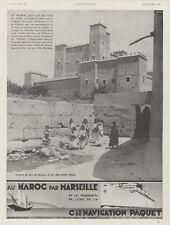 """""""Cie de NAVIGATION PAQUET"""" Annonce originale entoilée L'ILLUSTRATION J. TONELLI"""