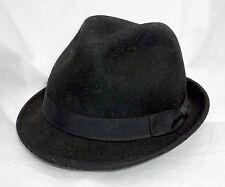 Trilby Damen Hut schwarz SEEBERGER WOLLE TREND