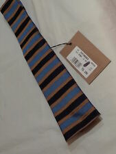 .DSQUARED2 100%AUTHENTIC  BLUE /GOLD//NAVY SILK TIE ITALY