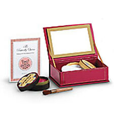 American Girl REBECCA STAGE MAKEUP for Dolls Red Makeup Case Brush Powder NEW