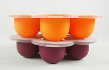 Baby Food Storage Containers Boxes Ice Tube Molds Reusable Freezer Trays Cupcake