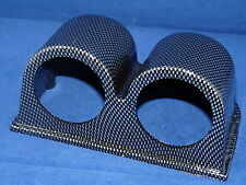 "Double Gauge, Meter, Pod, Holder, Bracket 2"" or 52mm Carbon Fiber Look  housing"
