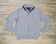 BEAUTIFUL MENS AQUA BLUE JUMPER TOMMY HILFIGER size M LAMBSWOOL