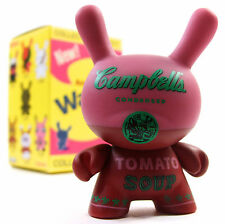 "Kidrobot ANDY WARHOL DUNNY SERIES - RED CAMPBELL'S SOUP CAN 3"" Vinyl Figure NEW"