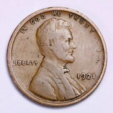 1921 Lincoln Wheat Cent Penny LOWEST PRICES ON THE BAY!  FREE SHIPPING!