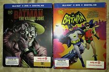 New Batman Return of the Caped Crusader + Killing Joke Blu-ray/DVD/DC Steelbooks