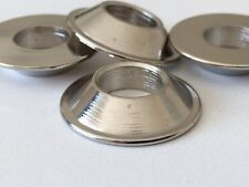 M10 Metric 10mm Misalignment, Spacers CNC Cut Nickel Plated Pack of 12