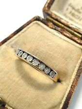 Pretty Hallmarked 9ct Gold Diamond Half Eternity Ring. Size M