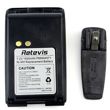 Retevis A8(PMNN4071)7.2V 1500mAh Ni-MH Battery+Belt Clip for Motorola/Mag One US