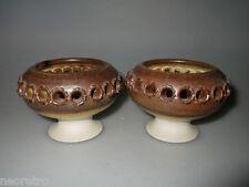 Zwei WÜRTZ Keramik Kerzenhalter 70er Studiokeramik KH Denmark danish Pottery